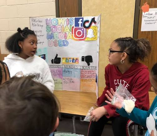 EIES Students Highlight Research at 5th Grade Exhibition