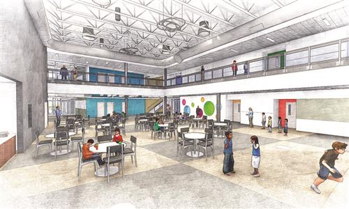 New school interior rendering (courtesy: DLR Group)
