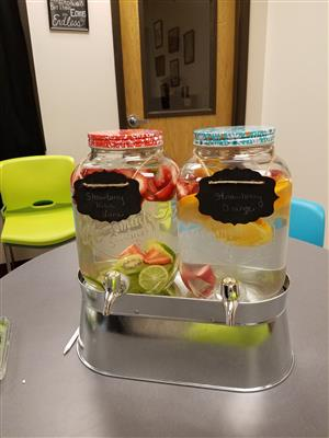 Fruit infused water bar