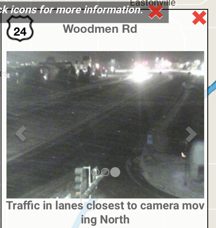 Road Conditions on Woodmen