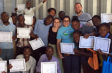 Brittaney Juarez, SES teacher, visits Haiti to help train educators.