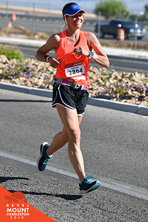 Heather Reading runs in a qualifying race for Boston Marathon.