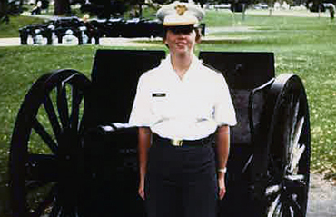 Karen Hobson at West Point Fall 1976.
