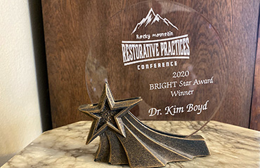 Photo of Restorative Practices Conference Award