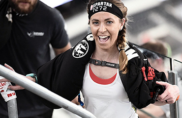 Kendra Spencer participates in Spartan Race.