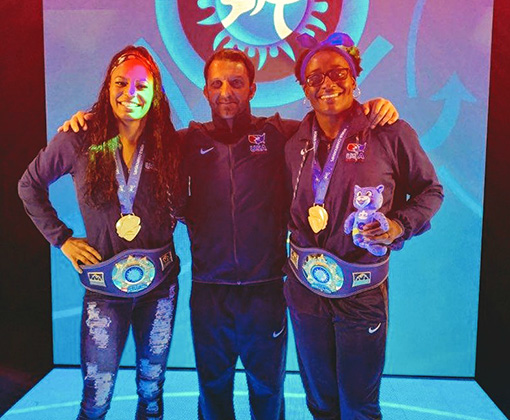 Izzy coached two athletes to world championship caliber in female wrestling.