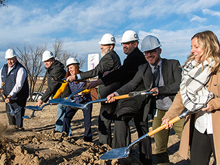 Groundbreaking ceremony at Springs Studio campus