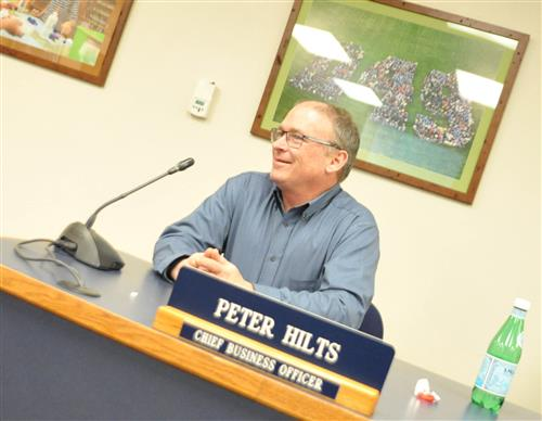 John Koster answered questions from the BOE Jan. 22