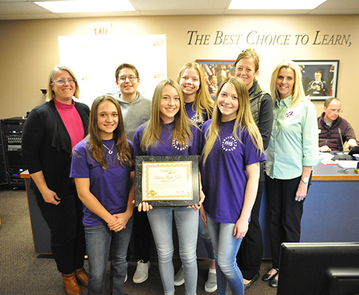 Falcon High S2S group is recognized during Fantastic 49 Nov. 7.