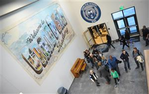 Parents, students and other visitors toured Grand Peak Academy after the ribbon cutting Oct. 25