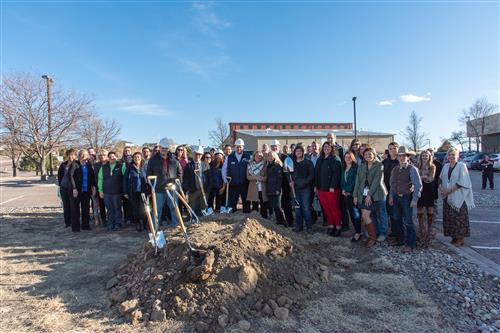 SSAE groundbreaking ceremony group photo December 12