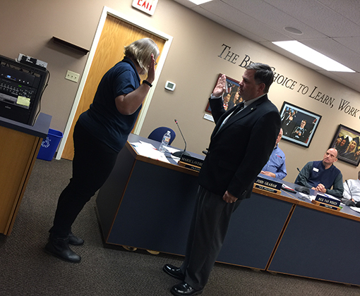 John Graham is sworn in as BOE President Dec. 2, 2019