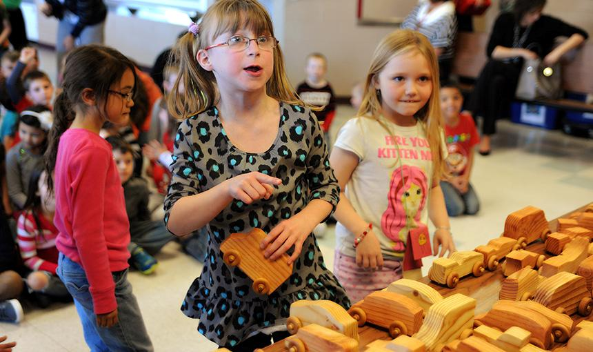 Career Construction Club Brings First Graders Toy Cars, Recognition