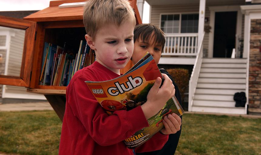 RVES Family Opens Little Free Library
