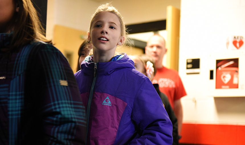 SRES Fifth-graders Tour HMS, Realigned For Sand Creek Zone