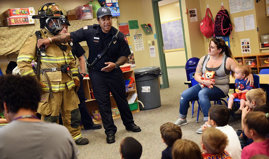 Firefighters Build Relations With Preschoolers