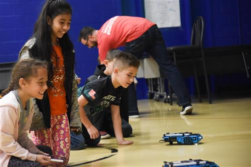 FESOT Students playing with rovers