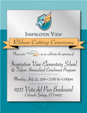 Inspiration View ribbon cutting invitation