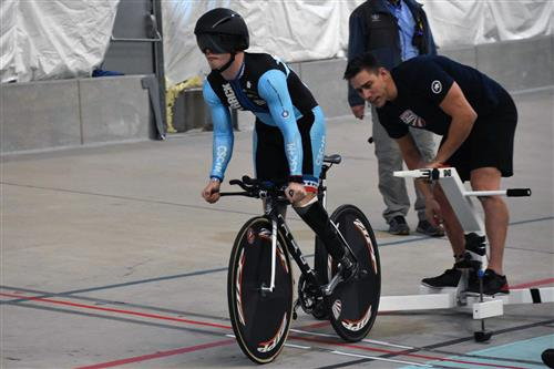 Jacob Waters, SSAE student and para-cyclist, in training.