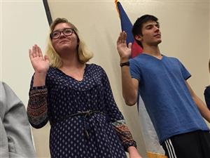PPEC students take NHS oath during induction ceremony at PPEC.