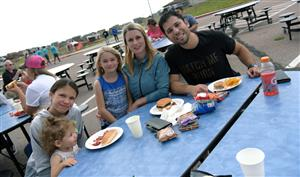 Families gather for the POWER Zone neighborhood BBQ at VRHS, Aug. 23