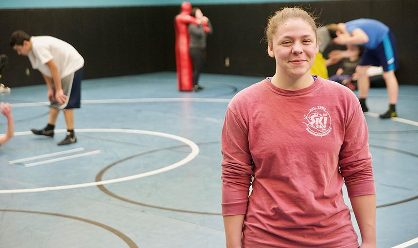 VRHS Wrestler Pins her Name to History