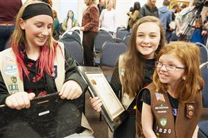 Girl Scouts are honored during Fantastic 49 April 11.