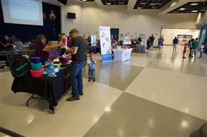 Local businesses and vendors spread out in SCHS offering information on their products or educational opportunities.