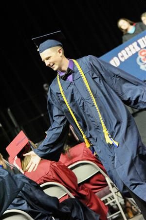 SCHS graduate expresses joy after receiving diploma May 25.