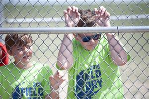 RMCA students watch fellow knights participate in the all-district track meet May 17 at FHS.