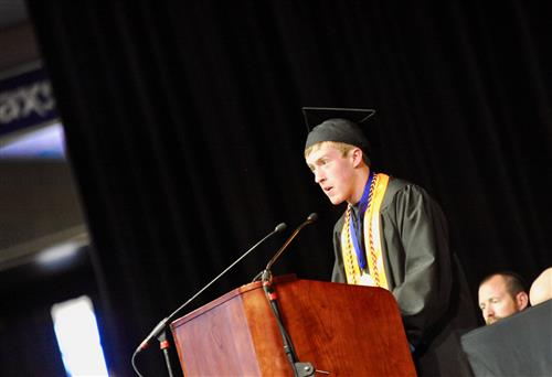 VRHS Valedictorian, Sean Kosman, delivers graduation speech May 25