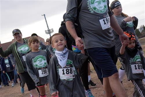 Raiden Dishno, 5, kindergartner at WHES, is one of the participants at the first-ever D4.9K Run/Walk, Sat., Nov. 4 at SES.