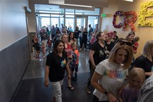 Guests tour Inspiration View Elementary School July 22