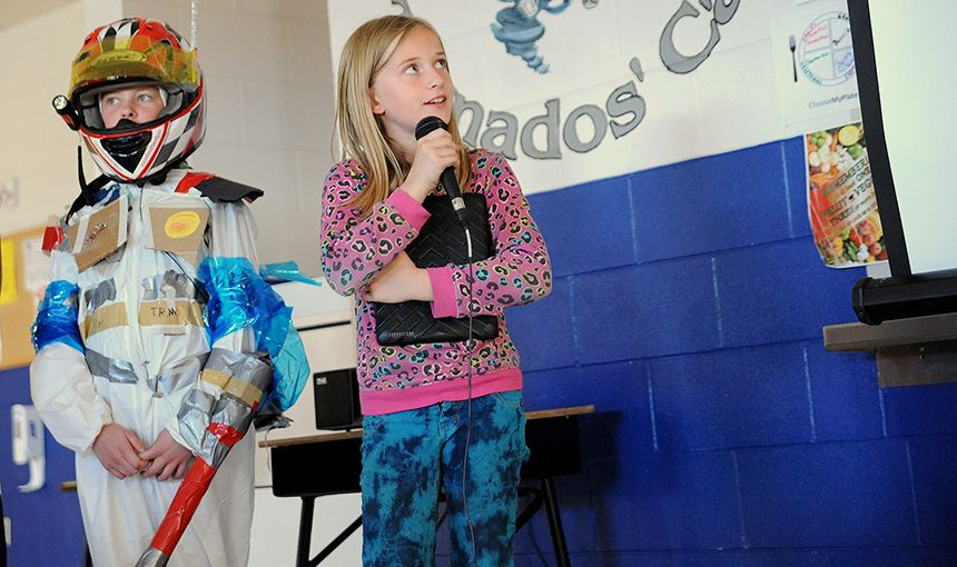 "Fifth-graders Share ""Spacesuit"" Designs"