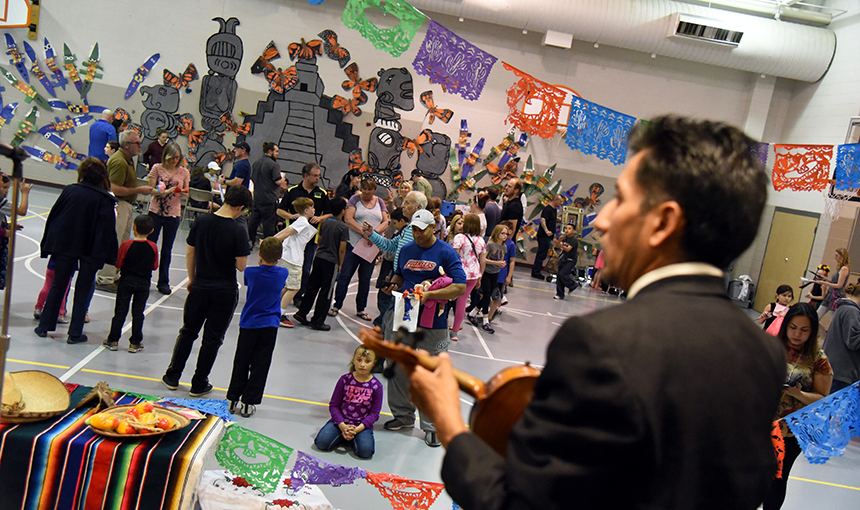 Students, parents, staff and community members celebrate the arts at RES May 4.