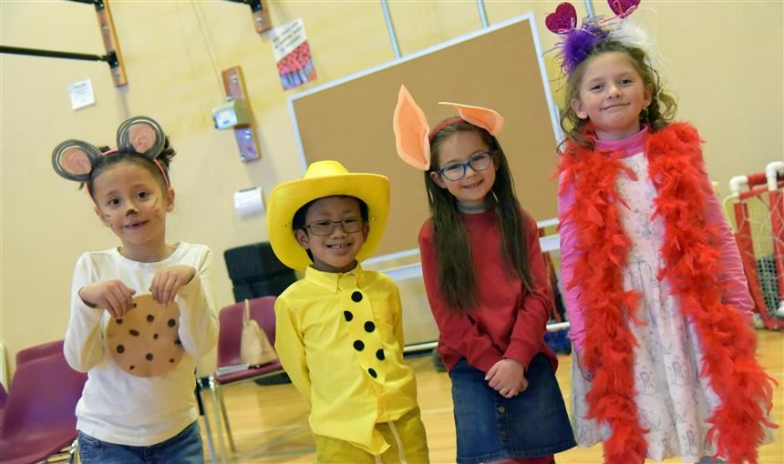 Students dress up as their favorite book character during literacy week at BLRA March 5.