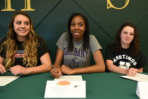 Students sign letters of intent