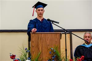 David Avdem addresses the PHS class of 2018 at graduation May 18 at the Creekside Success Center.