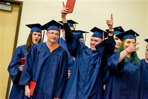 PHS graduates celebrate May 18 at the ceremony at the Creekside Success Center.