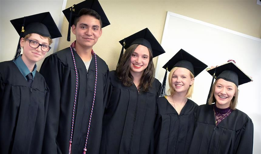 Homeschool graduates at completion ceremony May 19 at the Creekside Success Center.