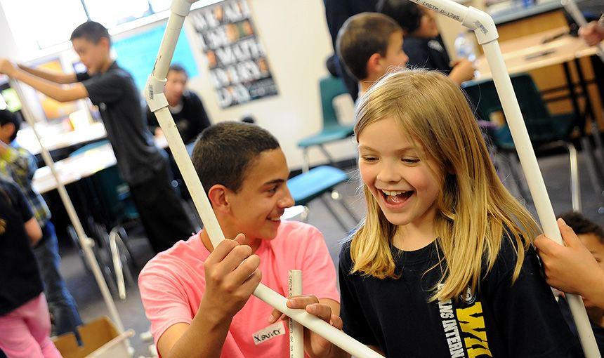 Eighth-graders Teach Second-graders Lessons in Science