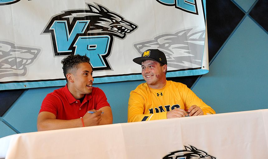 VRHS Student Athletes Sign Letters of Intent