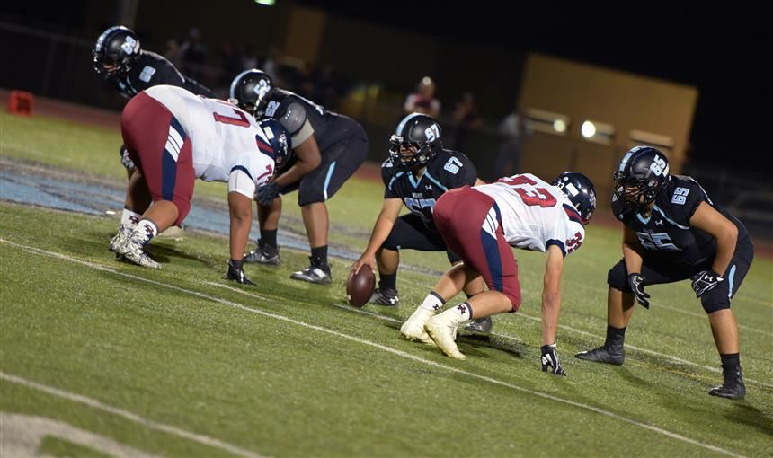 VRHS Wolves line up with determination in the homecoming game against Dakota Ridge Sept 14.