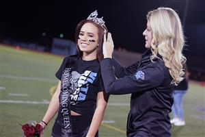 Cambria Carpenter, senior, receives her crown as Homecoming Queen during halftime at the VRHS football game Sept 14.