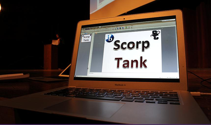 Scorp Tank is a play off of the popular television show Shark Tank.