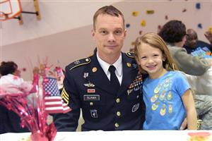 Students are proud to host their military parents at the appreciation luncheon at RES Nov. 13.