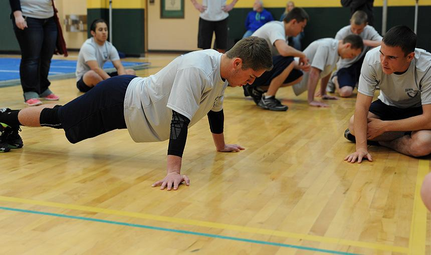 JROTC Students Compete, Strengthen Relationships during PT Event