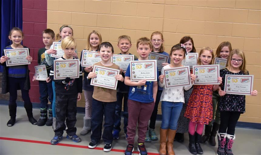 Students at MRES receive awards Nov. 26 as part of national PTA Reflections program.