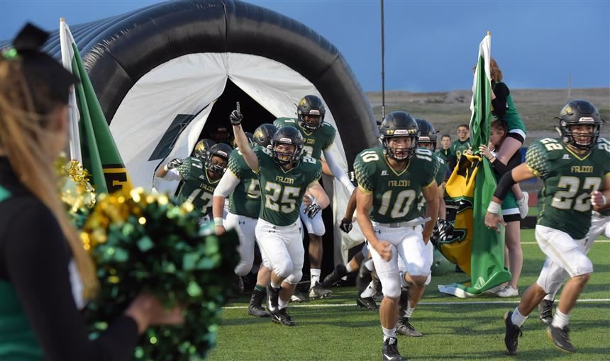 FHS football players take the field on Sept. 22 for homecoming game.