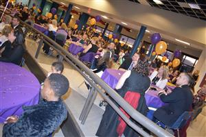 RMCA fourth-grader Kiera Lewis enjoys her time at the S2S Purple Ball at SCHS Jan. 26.